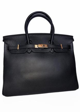 Шикарная кожаная сумка натуральная кожа hermes