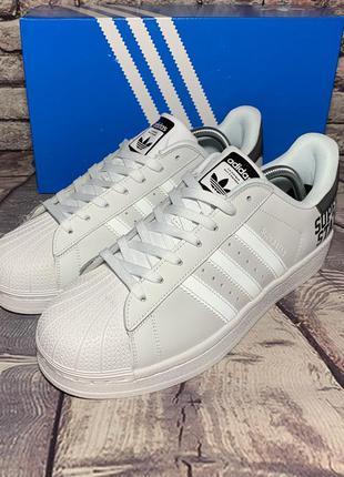 Мужские кроссовки adidas superstar (белые)