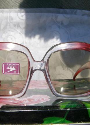 Классные солнцезащитные винтажные очки maruko jet