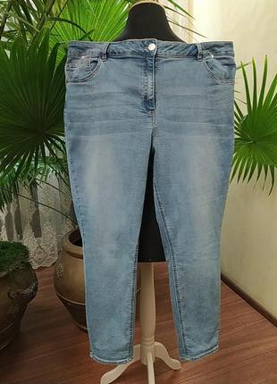 Зауженные джинсы, скинни, утяжка, батал, 18 размер