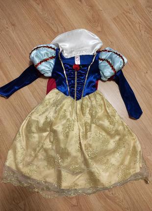 Платье белоснежки 3-5 лет.