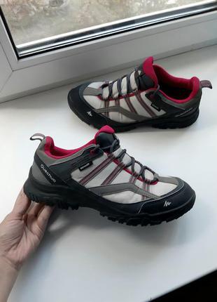 Трекинговые демисезонные водонепроницаемые непромокаемые кроссовки полу ботинки quechua