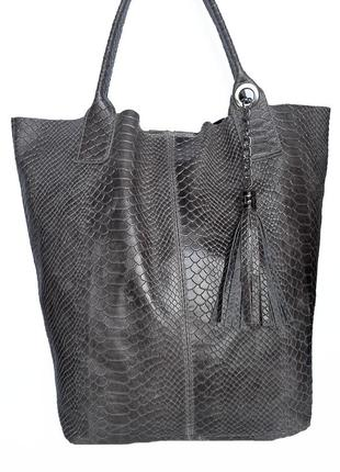 Кожаная сумка натуральная кожа genuine leather  италия