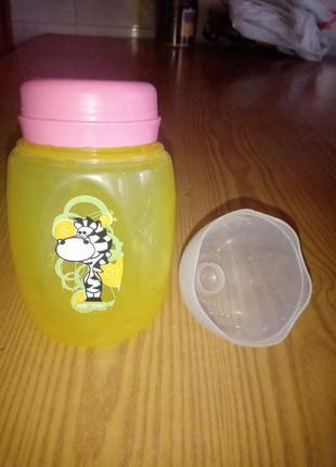 Детская бутылочка с широким горлом большая