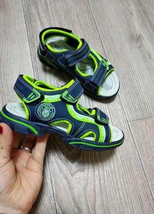 Летние сандалии сандали босоножки спортивные на липучках кожаная стелька кожа супинатор