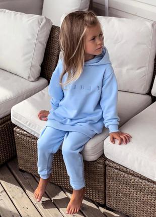 Тёплый детский костюм oversize