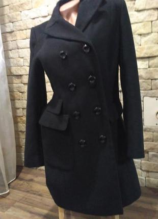 Чорние демисезонное пальто s,m венгрия