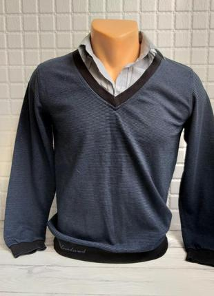 Рубашка обманка реглан свитер школьный  подростковый 158-164