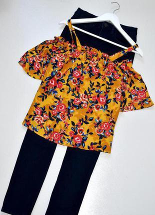 Sale papaya очень красивая блуза с открытыми плеча и принтом