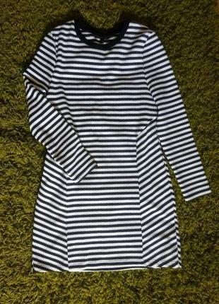 Платье в полоску с длинным рукавом