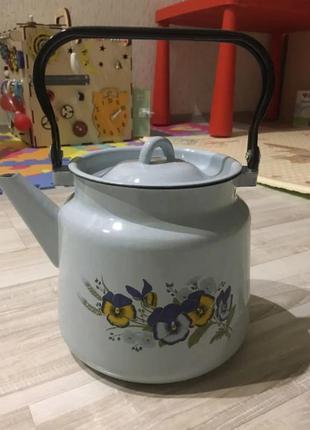 Чайник эмалированный, новый.