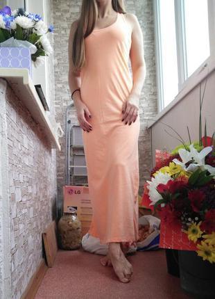 Длинное платье макси в пол