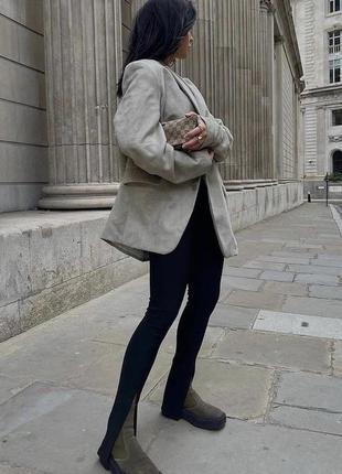 Zara трендові жіночі легінси в рубчик
