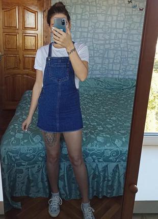 Джинсовый сарафан платье topshop плаття сукня