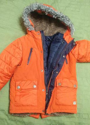 Супер куртка next  еврозима (3в1) р.116см