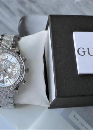 Женские наручные часы guess со стразами silver