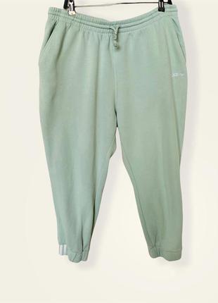 Спортивные штаны джоггеры утеплённые красивого мятного цвета adidas