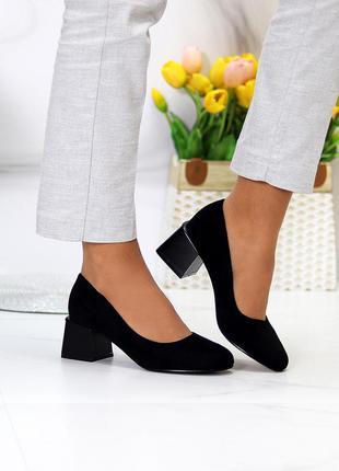 "Туфли ""arien"" женские черный экозамша туфлі жіночі чорний екозамша"