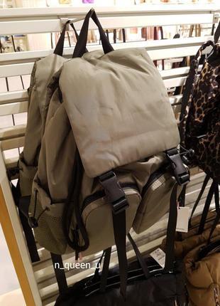 Рюкзак хакі з кишенями stradivarius! оригінал, з португалії!