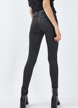 Джинсы topshop moto coated leigh jeans w30 l32