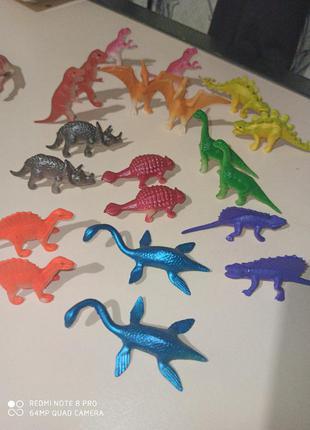 Набор животные фигурки динозавры