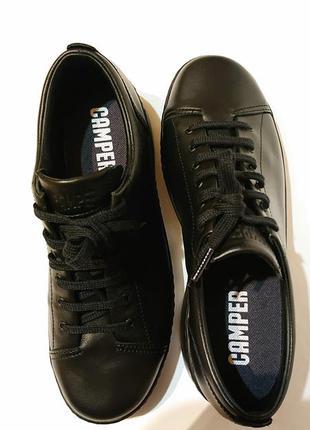 Женские кожаные туфли camper 40р кеды ботинки кожа проблемная стопа