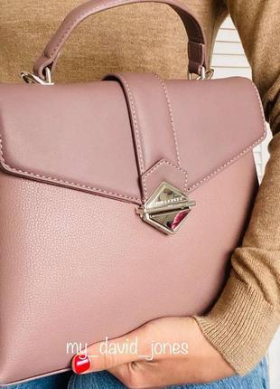 Стильная женская пудровая сумка кроссбоди клатч  david jones #5890
