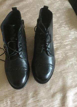 Брендовые кожаные ботинки сапоги 5th avenue англия оригинал
