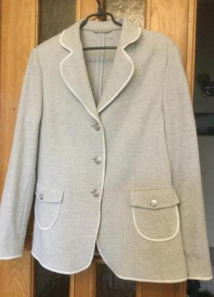 Фирменный шерстяной дакет пиджак дорогого бренда walbuch германия