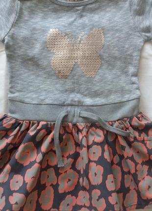 Платье для девочки 12-18 мес.86 см. очень красивое. next