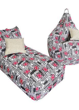 Комплект бескаркасной мебели лежак+груша