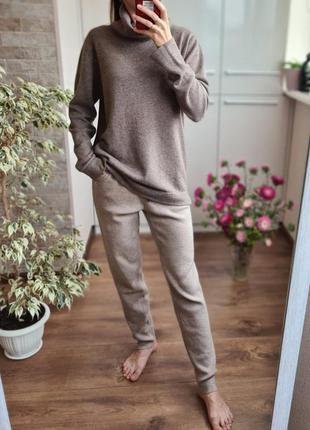 Стильный теплый кашемировый костюм гольф + штаны 🌺