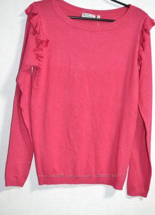 Фирменный свитер blue motion с рюшами на рукаве m, l
