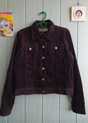 Стильный коричневый вельветовый жакет, пиджак