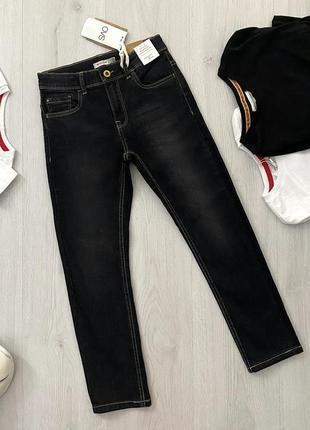 Черные джинсы regular fit для мальчика ovs kids италия
