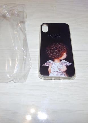 Чехол для iphone x/xs ангелочек сбудется дизайнерские чехлы