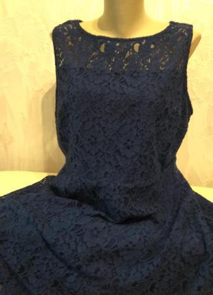 Гипюровое платье на подкладке большого размера.