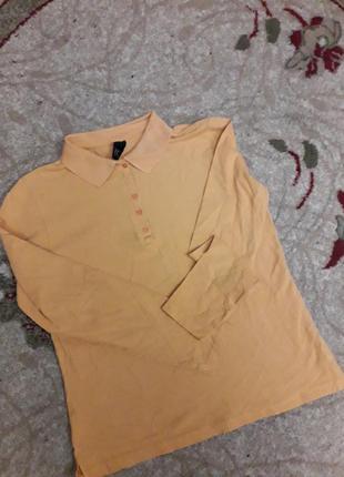 Рубашка поло реглан