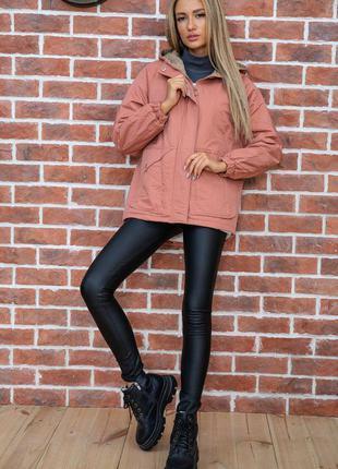 Куртка женская цвет терракотовый