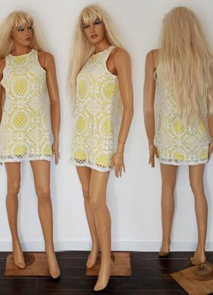 Нарядное кружевное платье. misguided. размер m.