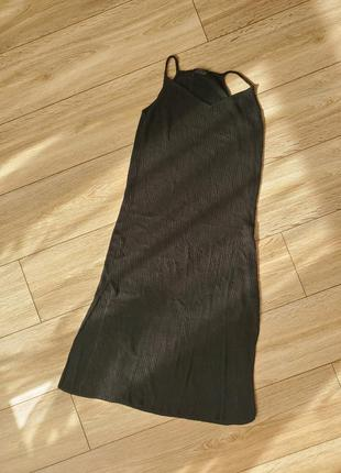 Трикотажное платье миди на брителях от bershka