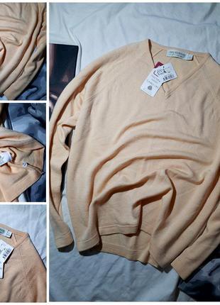 Пуловер 100% шерсть (l) новый
