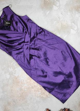 Платье миди новое фиолетовое стильное uk 14/42/l