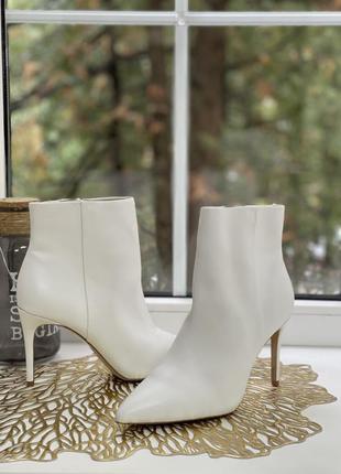 ▪️aldo  кожаные ботинки на прямом каблучке
