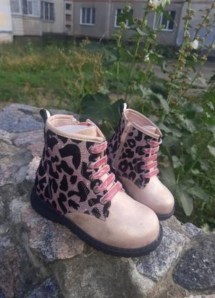 Утепленные демисезонные ботинки,осенние сапоги для девочки