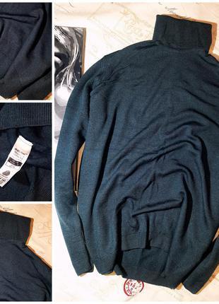 Мягкий свитер 100% шерсть m&s (m) не ношенный