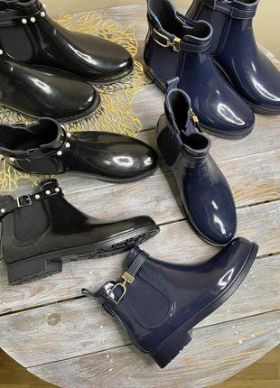 Резинові ботінки черевики гумачки резиновые ботинки чоботы