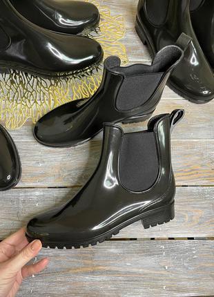 Гумачки на дощ резинові черевики челсі ботінки резиновые ботинки чоботи