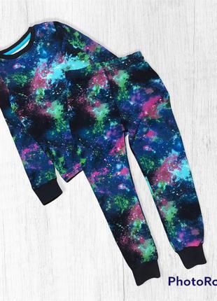 Next коллекция 2020 год пижама космос на мальчика 4-5 лет 104-110см