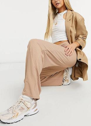 Стильные широкие брюки в рубчик,new look,размер 18-20
